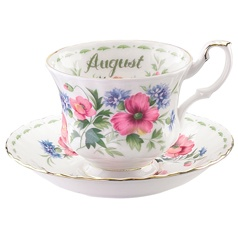 Royal Albert Flower of the Month August Teacup & Saucer