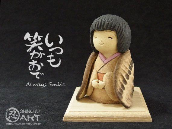 """Etsy のShinobu Araki Art・Ceramic """"Sparrow Girl""""(ショップ名:ShinobuArakiArt)"""