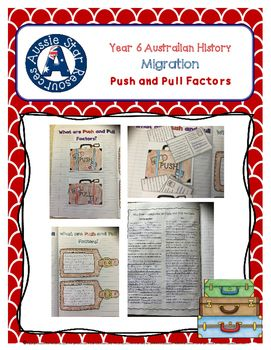 Understanding Push and Pull Factors in Australia's migration history. Year 6 History. Australian Curriculum: ACHASSK136 ACHASSI126 ACHASSI127