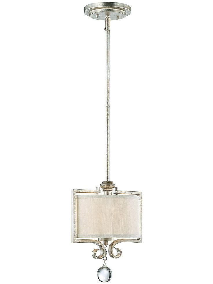 rosendal mini pendant in silver sparkle