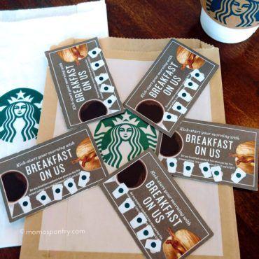 Starbucks Promotion スタバのプロモ コーヒー5杯でサンドイッチ無料   #starbucks #promotion #スタバ #プロモ