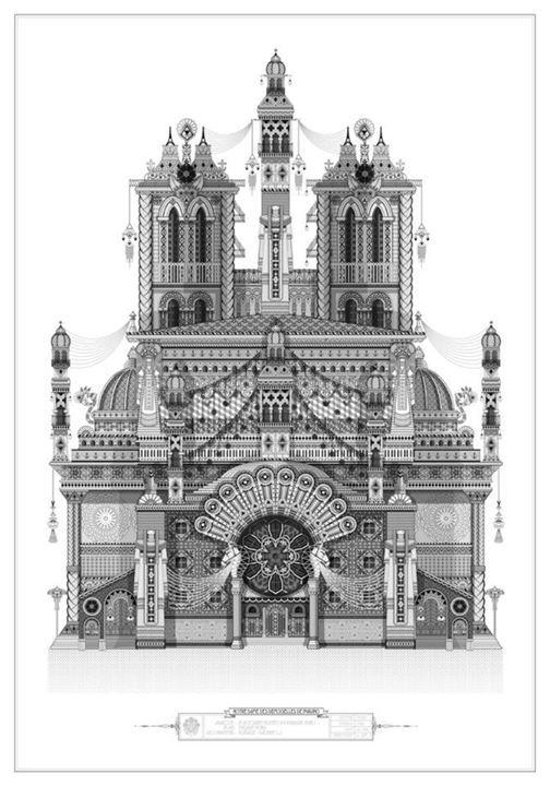 Building illustration by Koralie from France