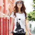 Mode T-Shirt med print op til 4XL