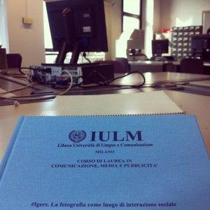 Allo IULM di Milano ci si laurea con una tesi sugli Igers