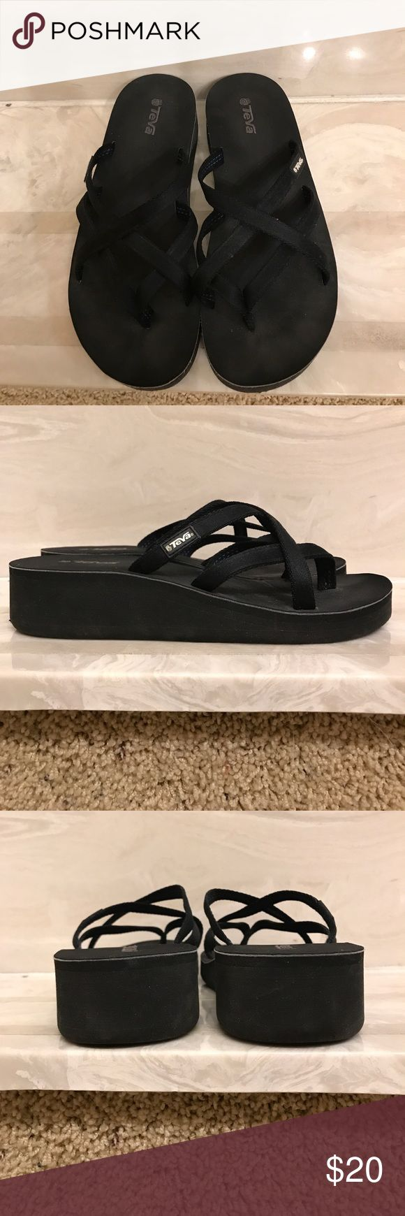 Teva flip flops Super cute wedge heal Teva flip flops. Excellent condition. Only worn a couple of times. Teva Shoes