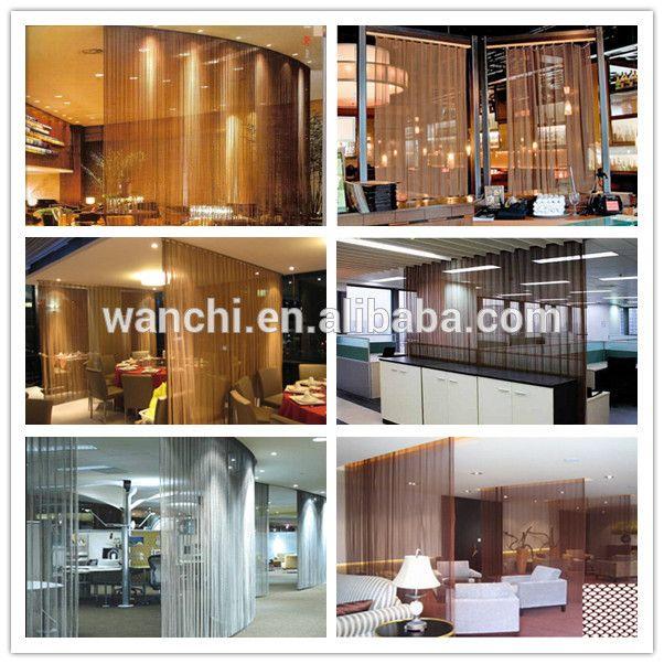 Ouro e sliver e bronze de cobre de divisor de quarto decorativo de metal cortina em Steel Wire Mesh de Melhorias na casa no AliExpress.com | Alibaba Group