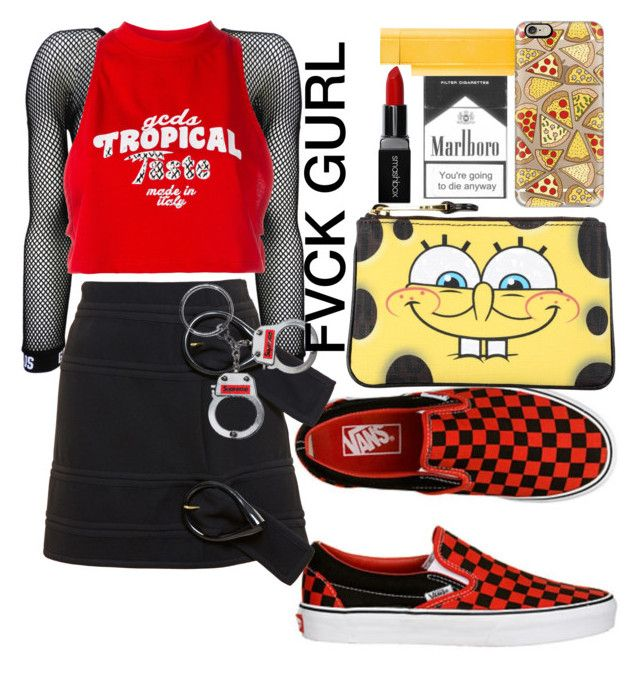 Knockout - Lil Wayne ft Nicki Minaj by annabidel on Polyvore featuring polyvore fashion style GCDS J.W. Anderson Moschino Casetify Smashbox Cartier clothing
