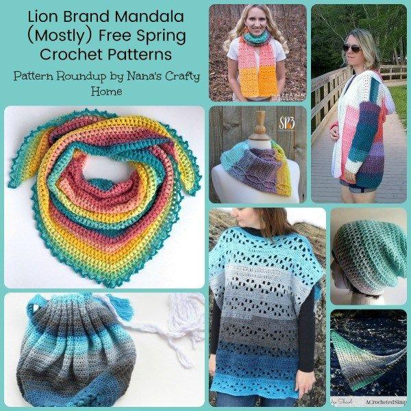 Lion Brand Mandala Mostly Free Spring Crochet Patterns Crochet