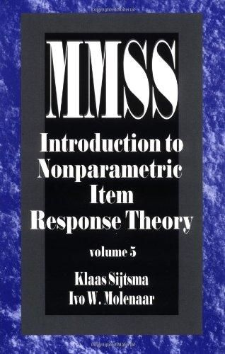 Introduction to Nonparametric Item Response Theory (Measurement Methods for the Social Science)