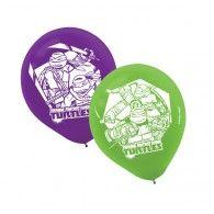 TMNT Latex Balloons Pkt6 $12.95 A111194