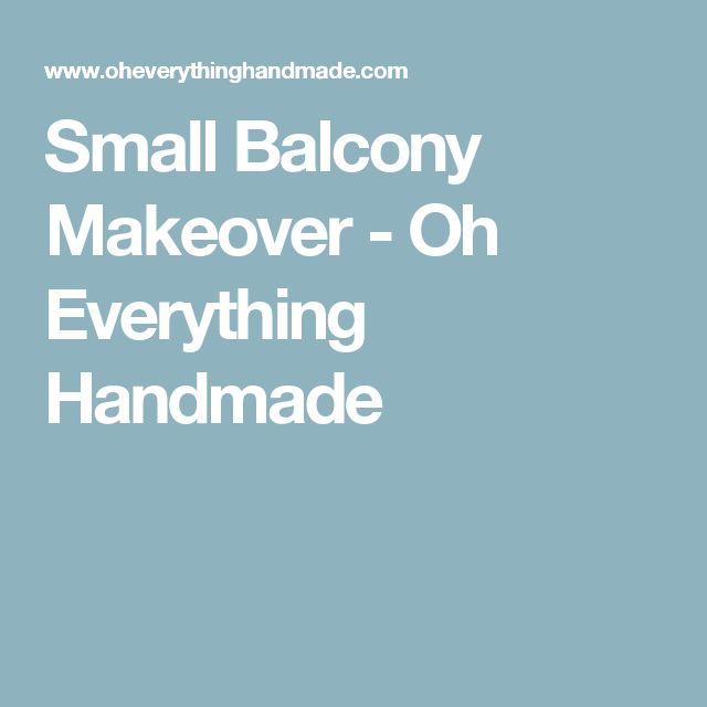 Small Balcony Makeover - Oh Everything Handmade