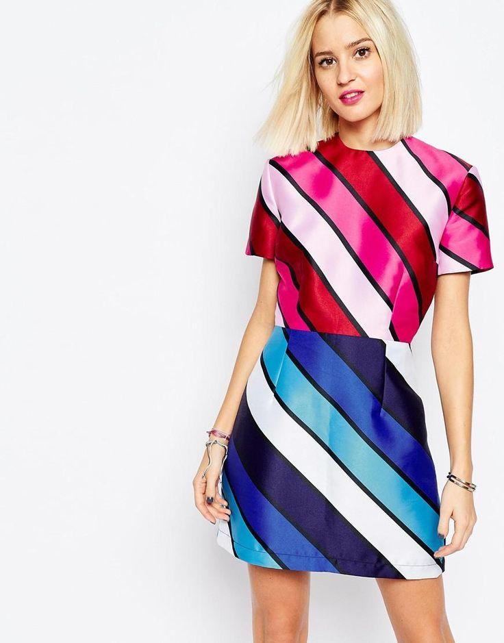 Vestido Color y Rayas