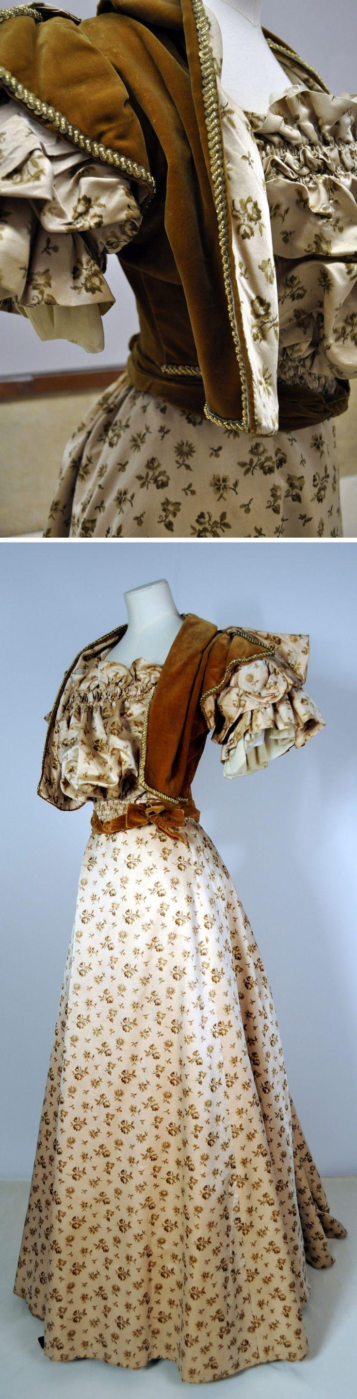 Evening dress ca. 1890s. Herbert Art Gallery & Museum (Coventry, UK) flickr