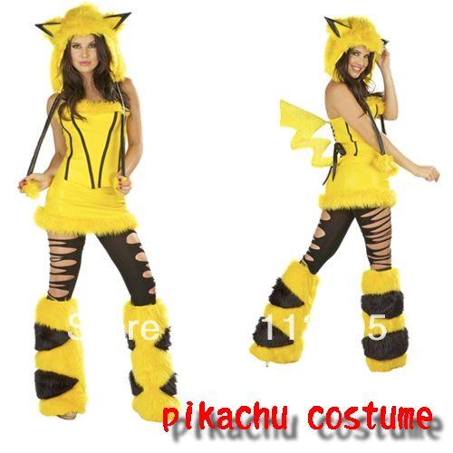 sluty halloween costumes for women 2013 | Free Shipping 2013 Sexy Adult Halloween Cosplay Costumes Pikachu ...