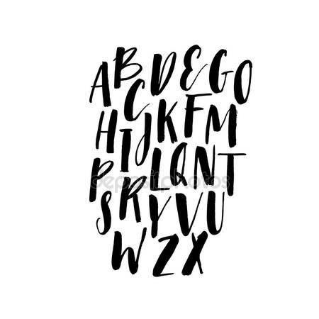 Stáhnout - Kolekce ručně kreslená písmena — Stocková ilustrace #112300294