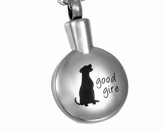 Pet Cremation Jewelry - VALYRIA Sitting #Dog Round Cremation Jewelry Ke – Saving Memories