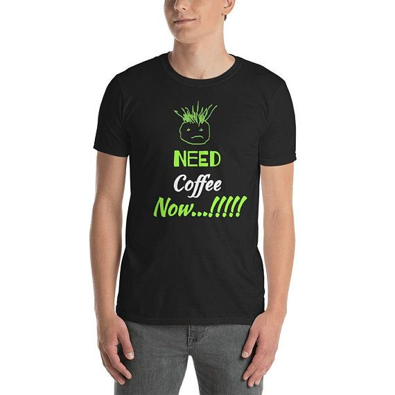 Funny face Need coffee now Short-Sleeve Unisex T-Shirt