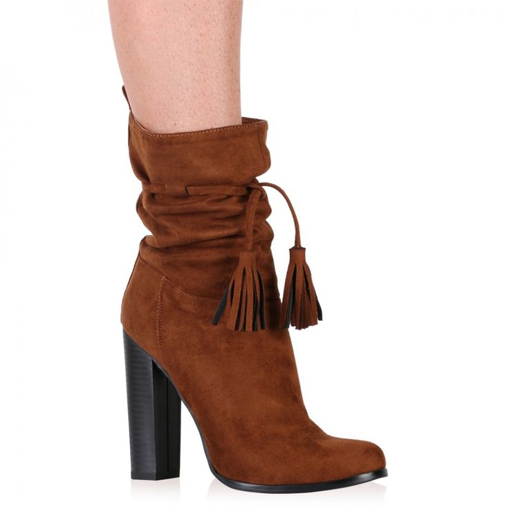 Jailene Ankle Boots in Tan Faux Suede