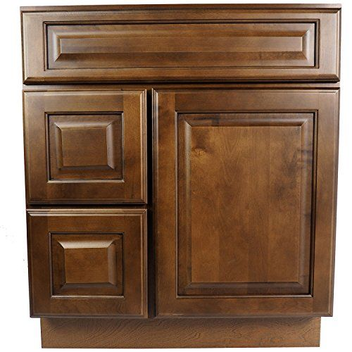 Special Offers - Everyday Cabinets 30 Inch Bathroom Vanity Single Sink Cabinet in Juniper Chestnut (Dark Brown Wood) with Soft Close Drawers & Door 30 (Doors Right) Review - In stock & Free Shipping. You can save more money! Check It (October 26 2016 at 02:56AM) >> http://bathroomvanitiesusa.net/everyday-cabinets-30-inch-bathroom-vanity-single-sink-cabinet-in-juniper-chestnut-dark-brown-wood-with-soft-close-drawers-door-30-doors-right-review/