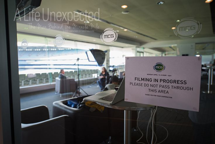 A Life Unexpected filming at the MCG. Photo by Stefano Ferro