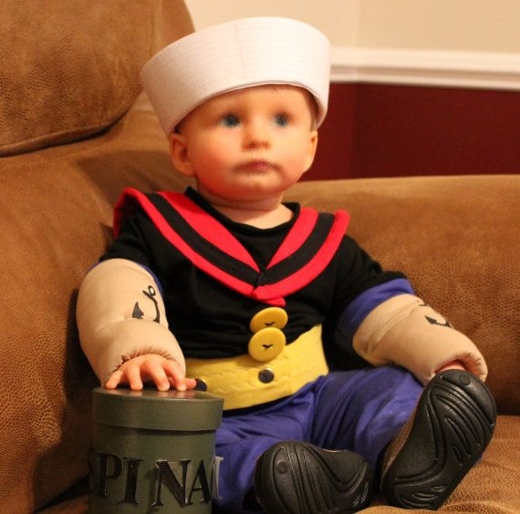 for any age/Popeye costume Made to order only please by SewingArt $65.00  sc 1 st  Pinterest : 9 month old halloween costume  - Germanpascual.Com