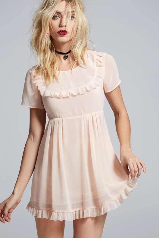 Love, Courtney by Nasty Gal Best Sunday Dress Sheer Babydoll