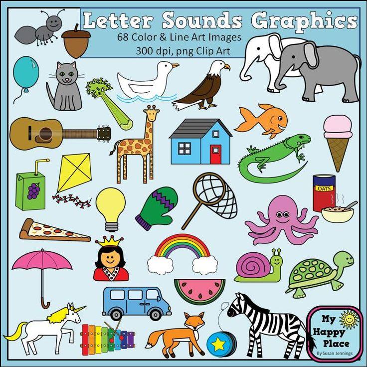 Line Art Letters : Alphabet sounds clip art phonics graphics for commercial