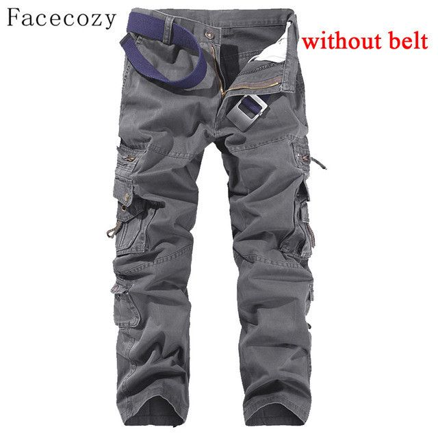 Facecozy Men Spring Sport Outdoor Pants Male Trekking Hiking &Camping Trousers With Multi-Pockets Plus Size