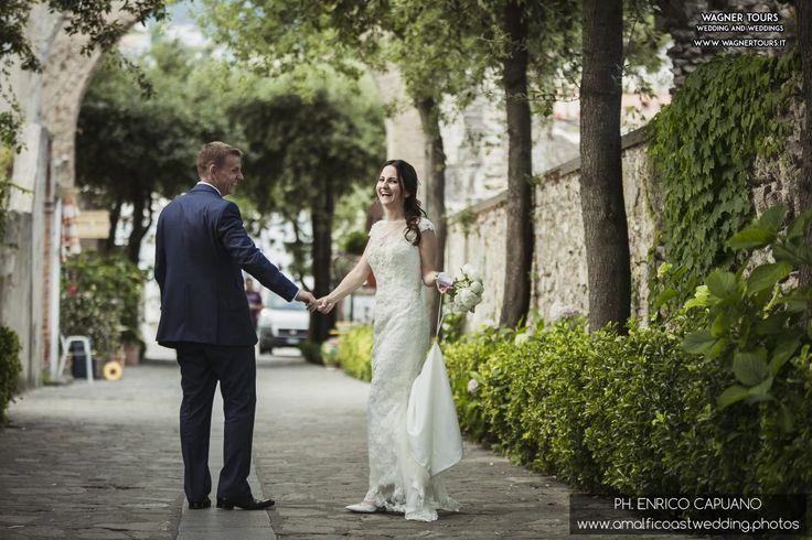 Ravello elopement wedding in the town hall garden principessa di piemonte local wedding planner Mario Capuano and professional wedding photographer Enrico Capuano. A Ravello dream http://www.amalficoastwedding.photos/