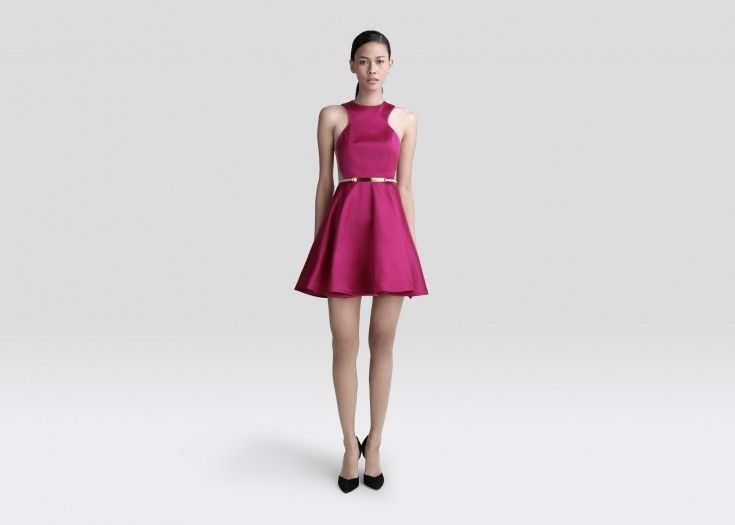 Filament Fuchsia Belted Dress by Peggy Hartanto