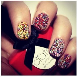 Caviar ManicureNails Trends, Nails Art, Caviar Nails, Nails Design, Caviar Manicures, New Nails, Nails Polish, Art Nails, Sparkly Nails