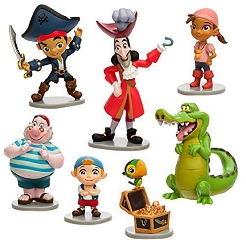 Avast me hearties! Here be Jake Izzy and all whole crew of Disney Junior's swashbuckling show. This Captain Jake and the Never Land Pirates play set includes seven fully sculptured figurines to crea...