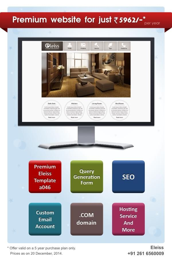 Create an exclusive #website from #eleiss template a046