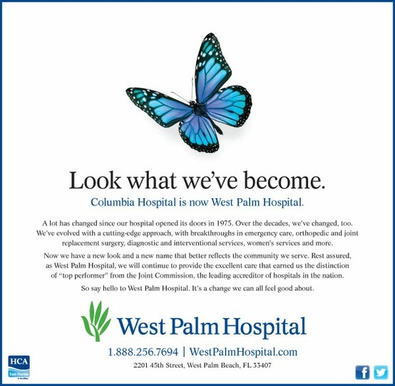 2013 Silver ADDY® Award Winner – Integrated Cross Platform Campaign West Palm Hospital, West Palm Hospital Rebrand Announcement Campaign (3 of 4)