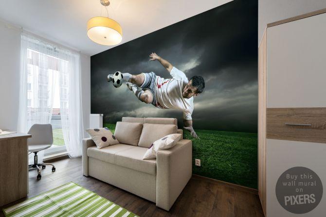 Fotobehang Voetballer fotobehang • Inspiraties • PIXERS.nl