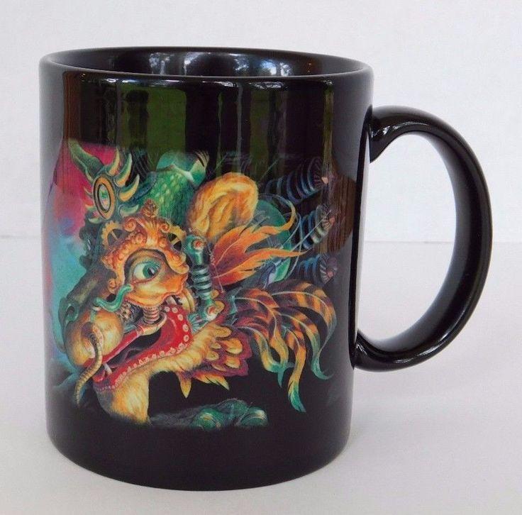 Cirque du Soleil Dralion Coffee Mug Cup Black Dragon Oriental Circus of the Sun #CirqueduSoleil