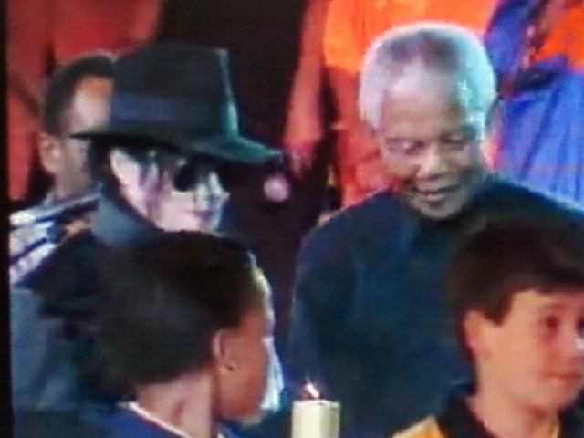 Michael with Nelson Mandela