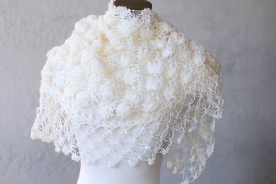 Свадебный прикрыть Свадебный платок Свадебный Болеро Shrug по MODAcrochet
