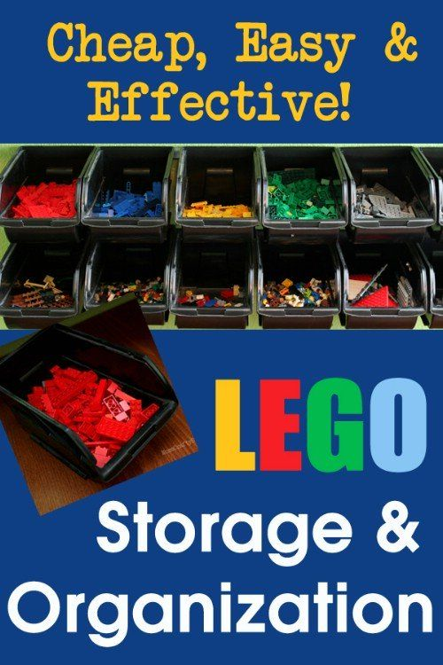 If your child loves Legos, chances are you have stepped on at least one. Instead of keeping them in the toy box or on the floor, give your child a special place for them. - 150 Dollar Store Organizing Ideas and Projects for the Entire Home