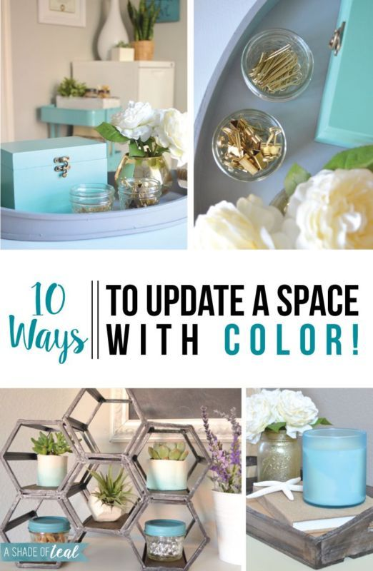 When it comes to decorating and updating a room, don't be afraid of color! You don't need a major transformation to upda