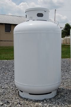 The first step in propane safety is to locate your propane tank. If it's above ground, it's easy. Next locate the gauge on top of your above ground tank.
