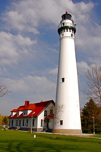 The Wind Point Lighthouse, Racine, Wisconsin - built in 1880