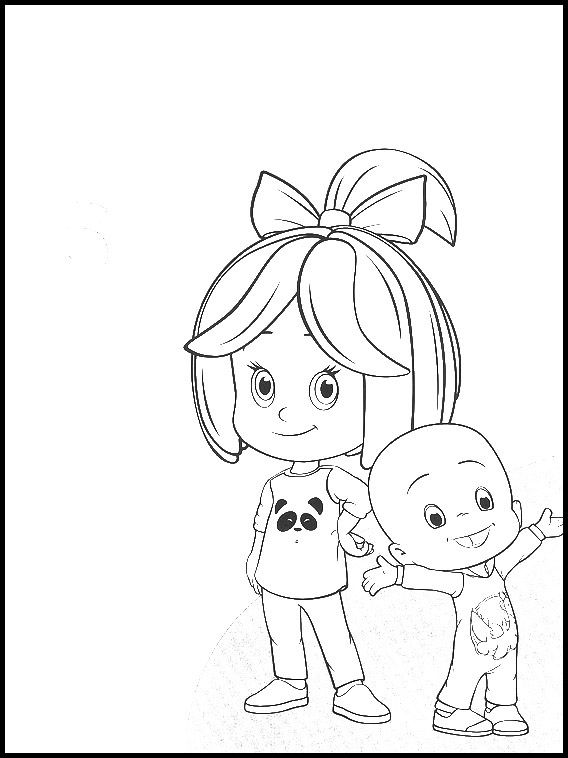 Cleo And Cuquin 19 Printable Coloring Pages For Kids Paginas