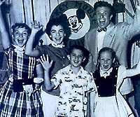 The Mickey Mouse Club and the Mousketeers!  Or should I say   M-I-C   See you real soon   K-E-Y  why? Because we love you   M-O-U-S-E   :-)
