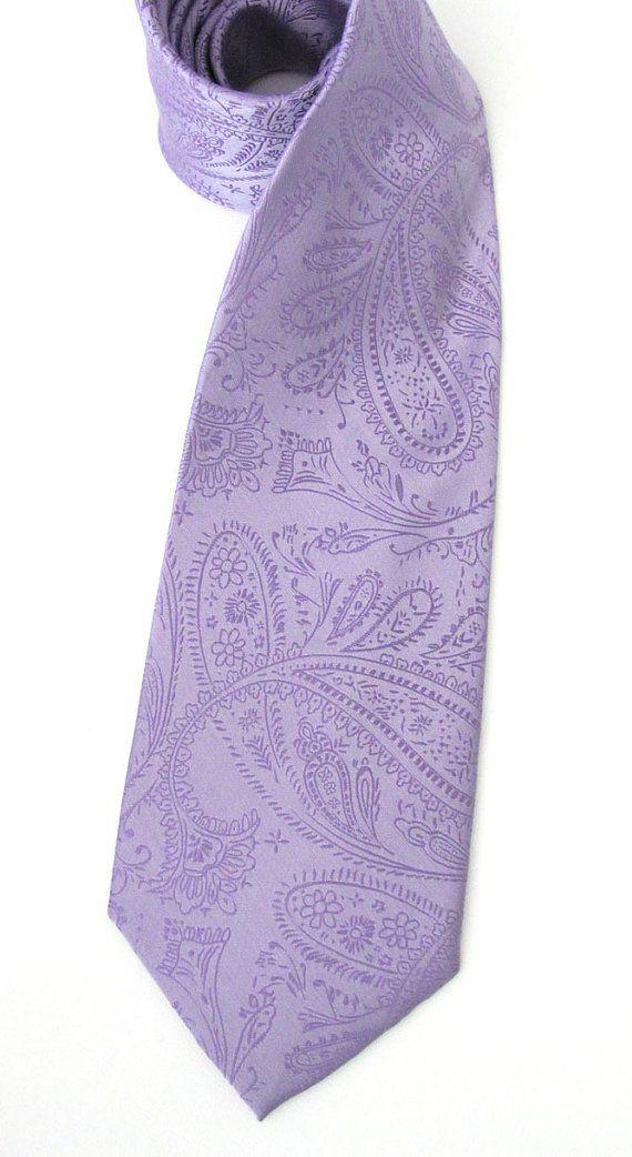 Lavender Tie. Necktie Lavender Purple Paisley Mens by TieObsessed