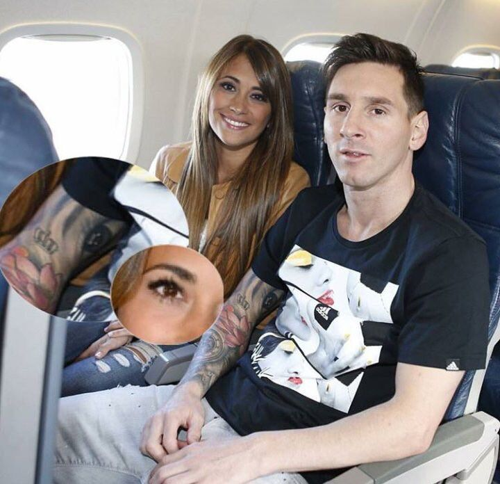 Did you know Leo Messi has got Antonella's eye tattoed on his arm?
