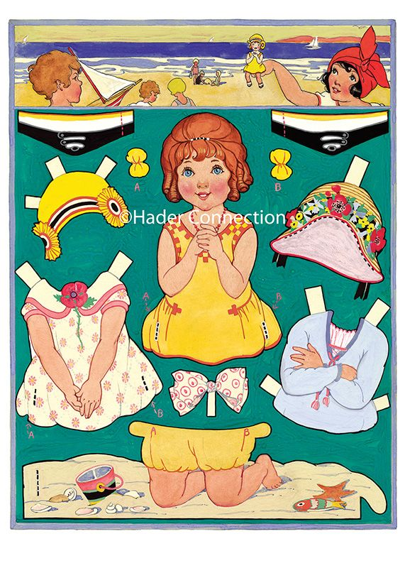Hader paper doll_Beach; Good Housekeeping magazine, Aug. 1924