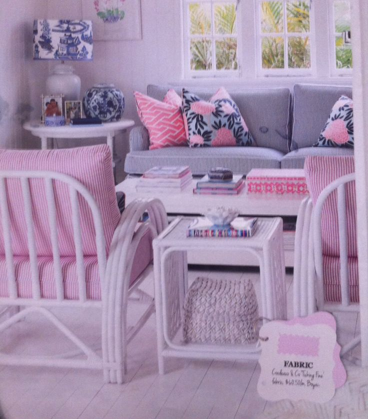 Delightful sitting room. Rattan chairs painted in Dulux ...