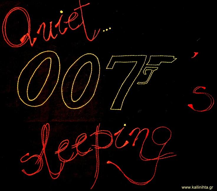 For Bond fans, James Bond fans, black pillowcase