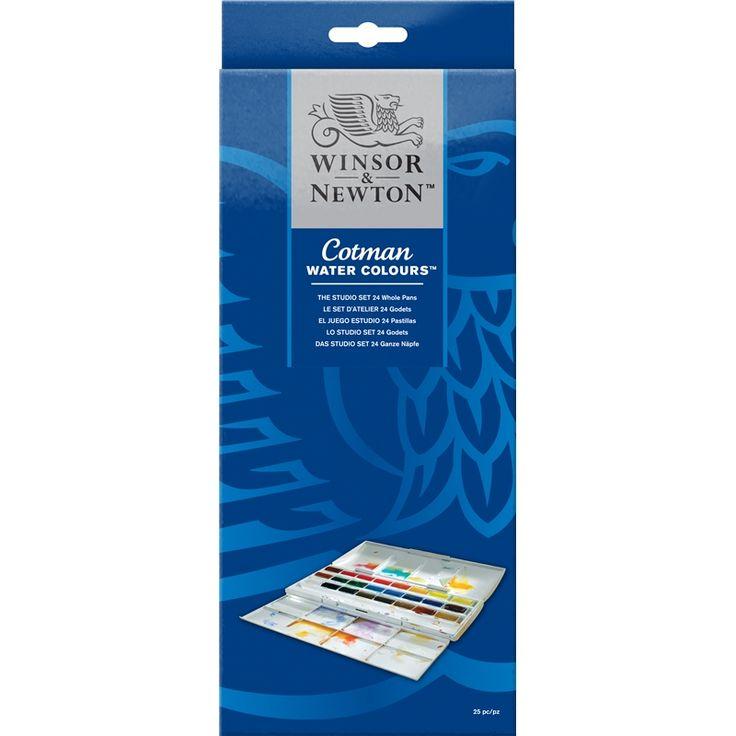 Cotman Water Colours The Cotman Studio Set - 24 Whole Pans   Winsor & Newton